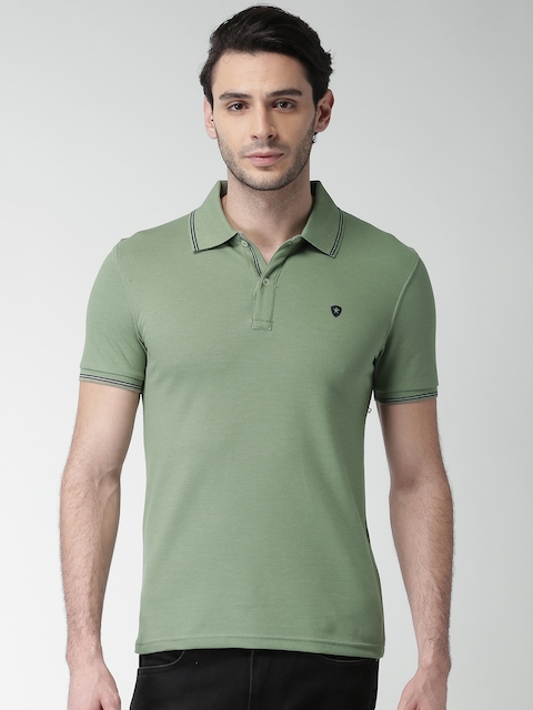 Celio Men Green Solid Polo Collar T-shirt  available at myntra for Rs.844
