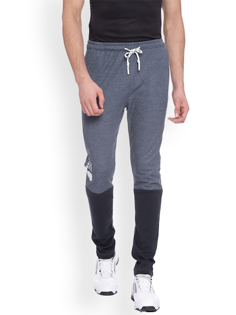 Proline Men Navy Blue & Grey Slim Fit Colourblocked Track Pants  available at myntra for Rs.549