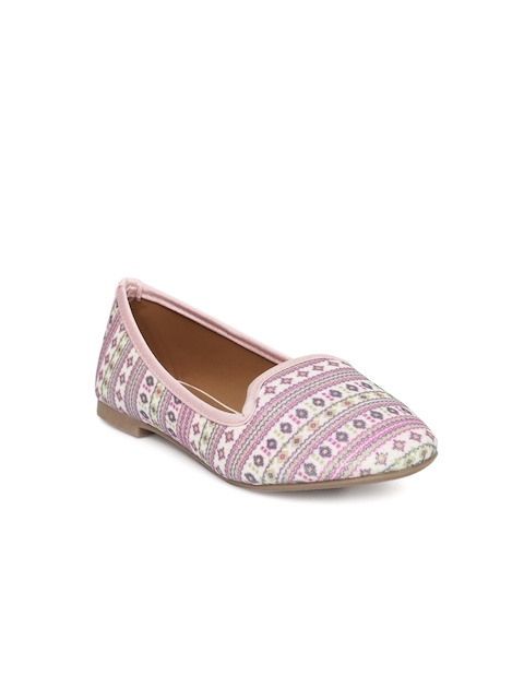 Fame Forever by Lifestyle Girls Pink Printed Loafers