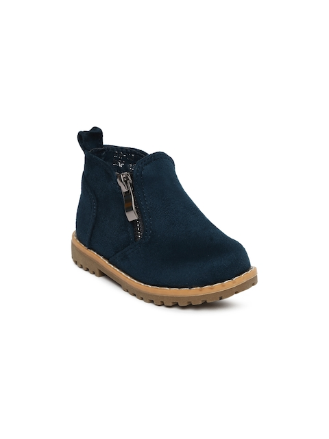 Fame Forever by Lifestyle Boys Navy Blue Flat Boots