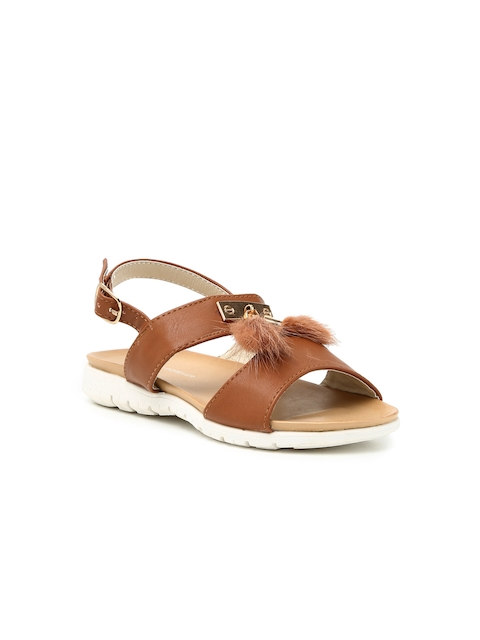 Fame Forever by Lifestyle Girls Tan Brown Sandals