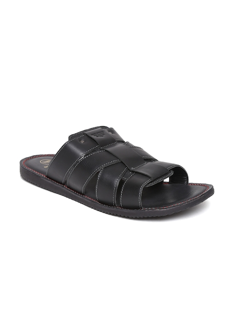 Red Tape Men Black Sandals
