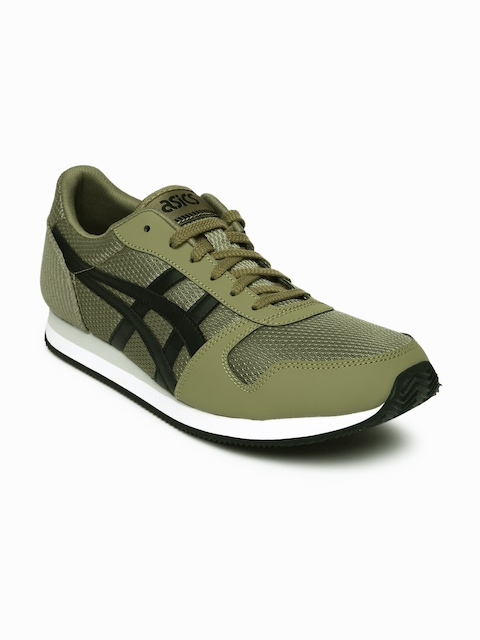 ASICS Tiger Men Olive Curreo II Sneakers