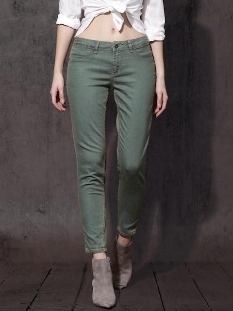 Roadster Women Green Super Skinny Fit Jeggings