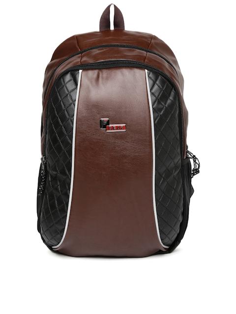 F Gear Unisex Brown & Black Solid Carlton V2 Backpack