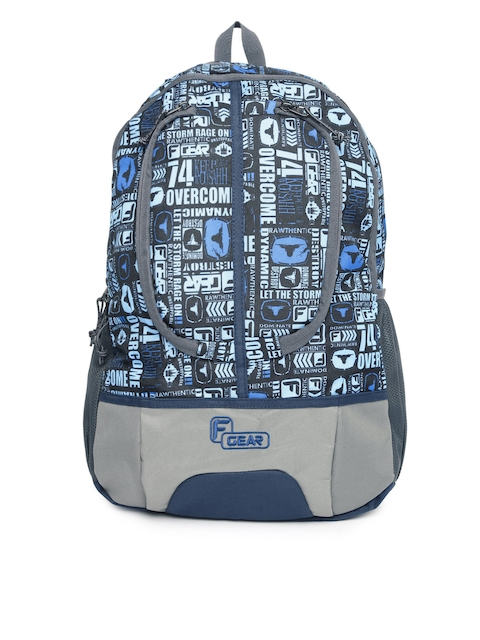 F Gear Unisex Blue & Grey Graphic Dropsy P11 F skyblue Backpack