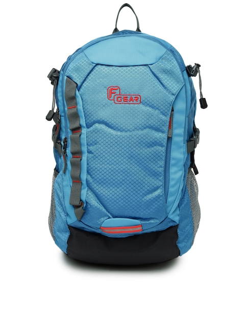 F Gear Unisex Blue Solid Fortune Backpack