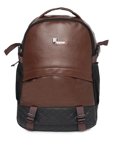F Gear Unisex Brown & Black Solid Sedna Backpack