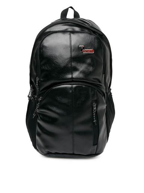 F Gear Unisex Black Solid Tandrum V2 Leather Backpack