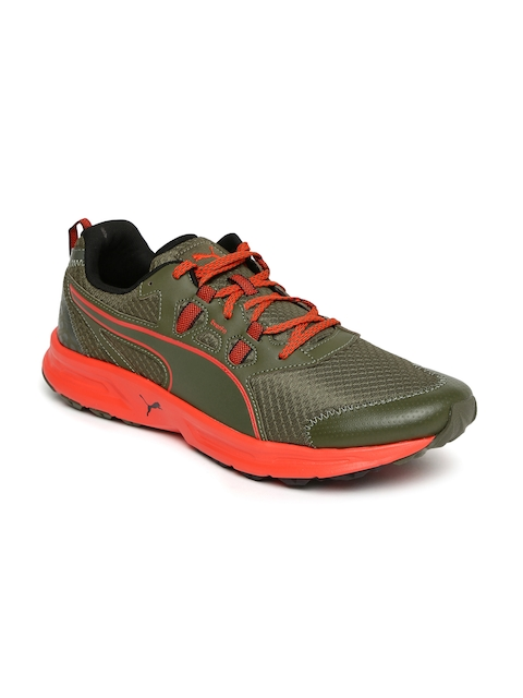 Puma Men Olive Green Essential Trail Running Shoes