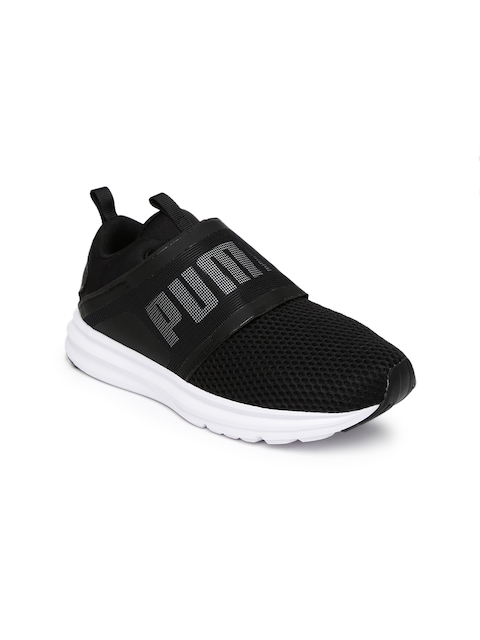 Puma Women Black Enzo Strap Running Shoes