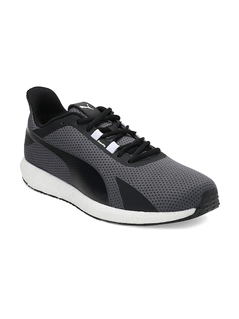 Puma Men Black & Charcoal Mega NRGY Turbo Grey Running Shoes
