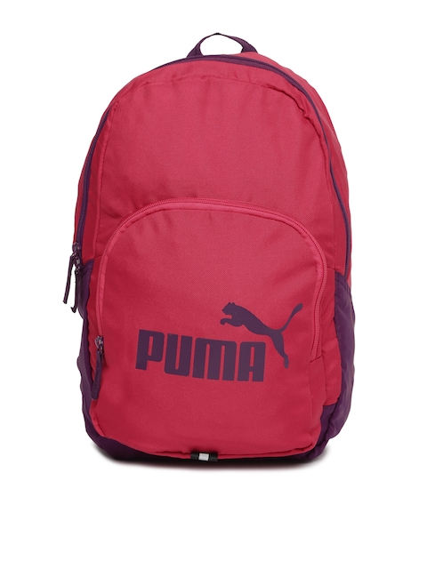 Puma Unisex Pink & Grey Phase Colourblocked Backpack  available at myntra for Rs.649