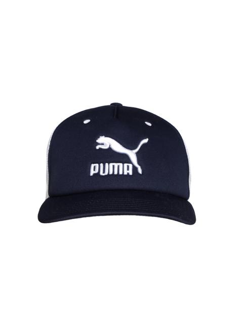 Puma Unisex White & Navy ARCHIVE Trucker Cap