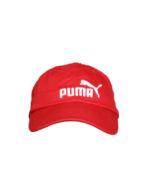 Puma Unisex Red ESS Cap  available at myntra for Rs.329