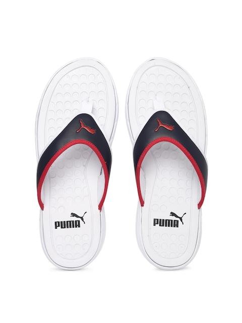 Puma Men Navy & White Lycus Flip-Flops