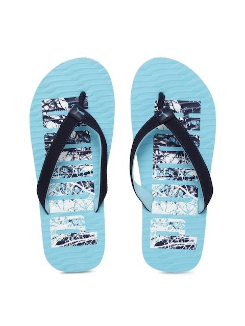 Puma Unisex Blue Printed Miami Fashion DP Flip-Flops