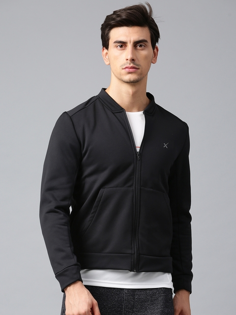 HRX by Hrithik Roshan Men Black Solid Sporty Jacket