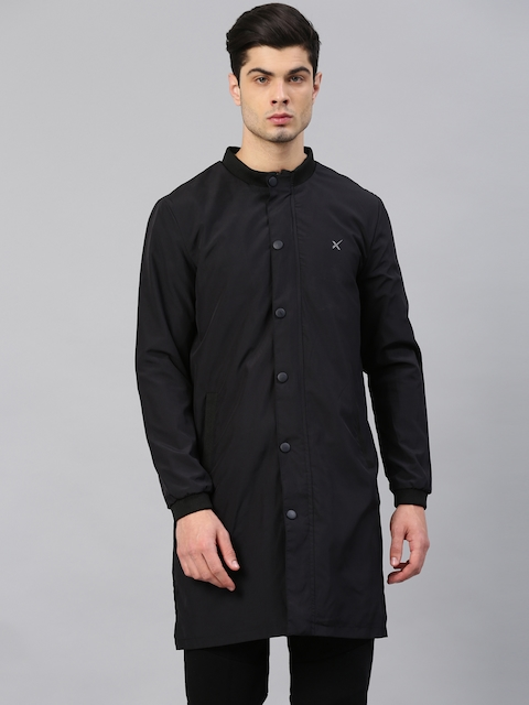 HRX by Hrithik Roshan Men Black Solid Open Front Jacket