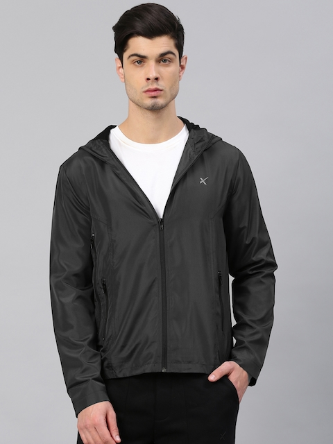 HRX Active by Hrithik Roshan Men Black Solid Sporty Jacket