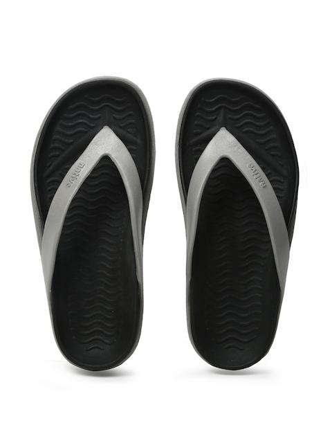 native shoes Unisex Grey & Black Yetes Flip-Flops