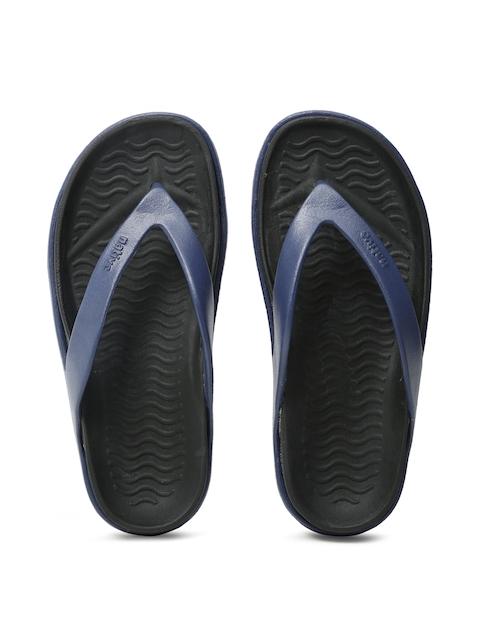 Native Shoes Unisex Navy Blue & Black Flip-Flops