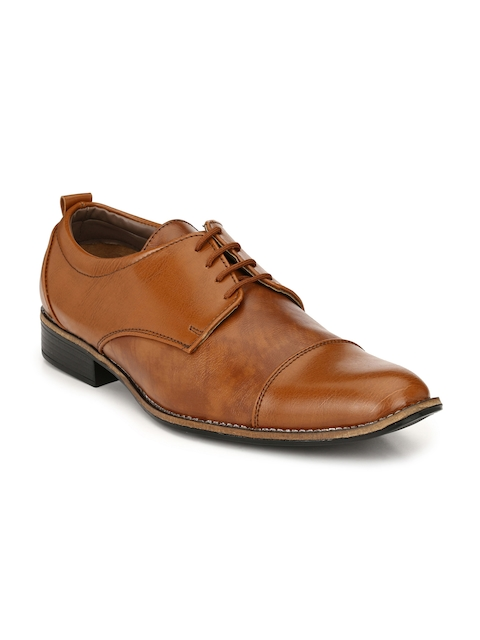 Sir Corbett Men Tan Brown Formal Derbys