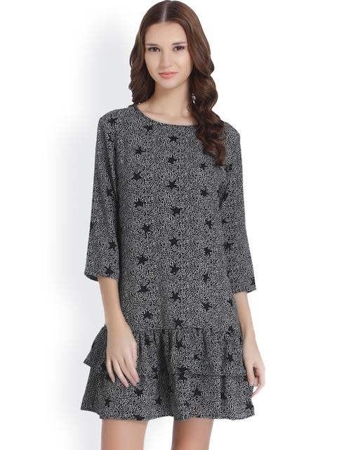 ONLY Women Beige Printed T-shirt Dress