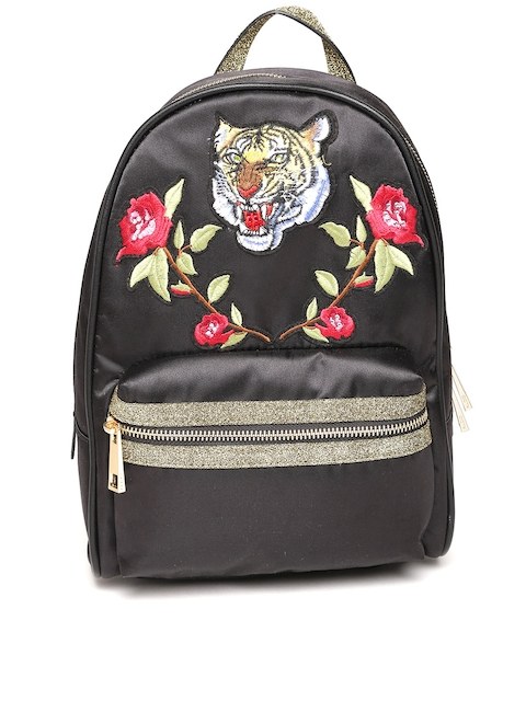 ALDO Women Black Backpack with Appliques