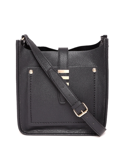 ALDO Black Solid Sling Bag