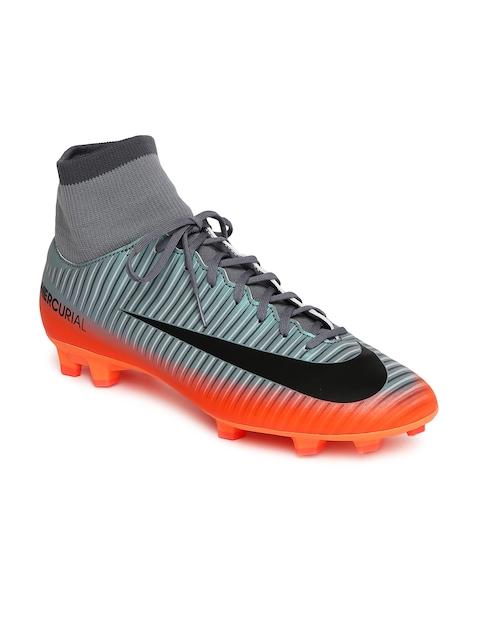 Nike Men Grey MERCURIAL VICTORY VI CR7 DF FG Mid-Top Football Shoes