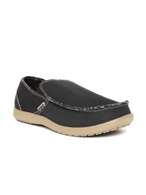 Crocs Men Charcoal Grey Slip-Ons
