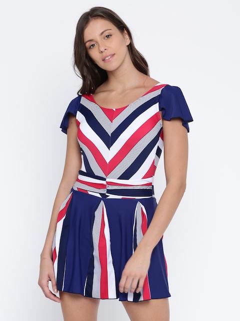 Heart 2 Heart Navy & White Striped Swimwear SW11043RIBBN