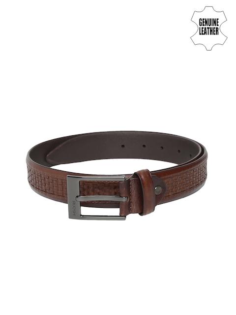 Ruosh Men Brown Textured Belt