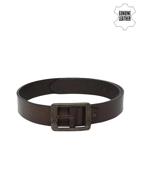 Ruosh Men Brown Solid Belt
