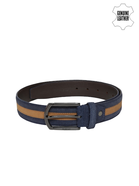 Ruosh Men Blue & Brown Striped Belt