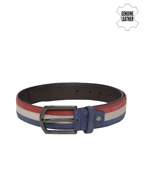 Ruosh Men Multicoloured Striped Belt