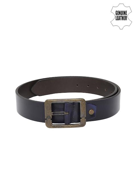 Ruosh Men Navy Blue Solid Belt