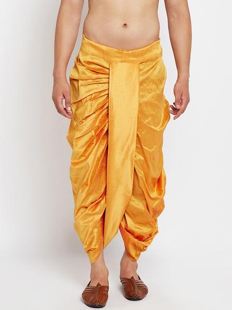 SOJANYA Mustard Yellow Dhoti Pants