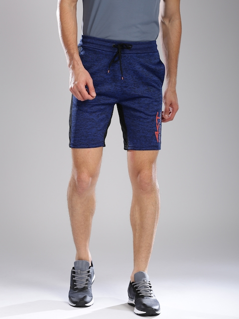 Kappa Men Blue Solid Regular Fit Sports Shorts