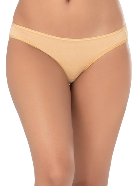 PrettySecrets Women Beige Low-Rise Bikini Briefs P1001