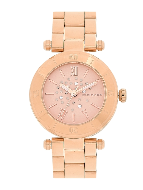 Dsigner Women Gold-Toned Analogue Watch 667RGM 11L