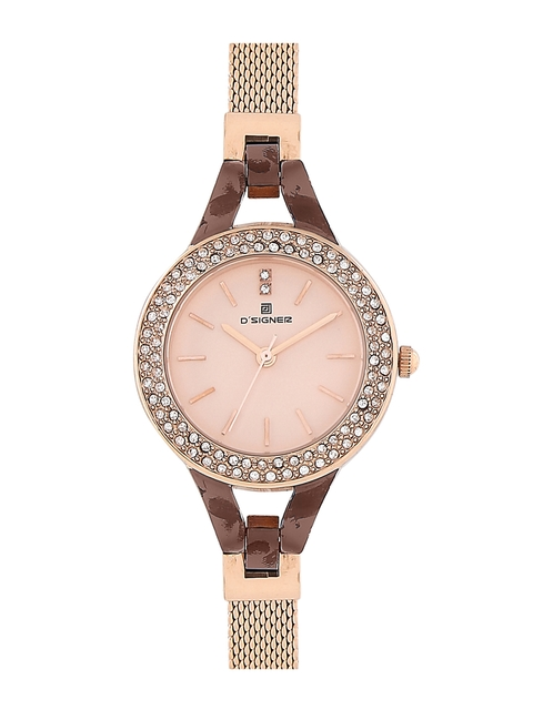 Dsigner Women Gold-Toned Analogue Watch 669 BRNRTM 11L