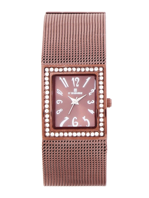 Dsigner Women Brown Analogue Watch 573BRNM