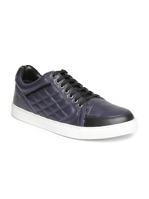 Ruosh Men Navy Leather Sneakers