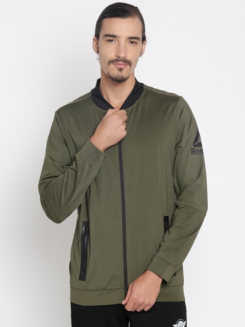 Reebok Men Olive Green HEXAWARM Sporty Jacket