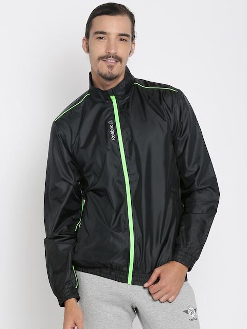 Reebok Men Black Solid WINDCHEATER Sporty Jacket