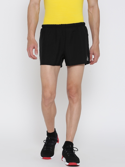 Reebok Men Black RE 3 Inch Solid Running Shorts  available at myntra for Rs.799