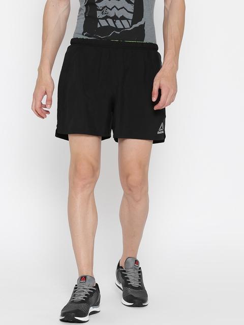 Reebok Men Black OSR 5 Inch Solid Running Shorts