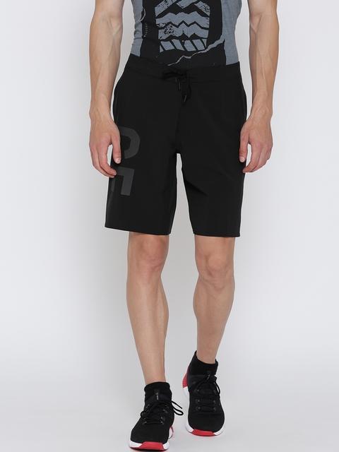 Reebok Men Black RC Super Nasty Base Solid Sports Shorts